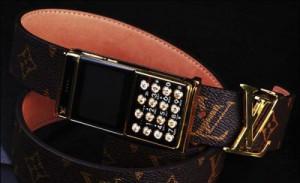 Подделка ремень Louis Vuitton со встроенным телефоном