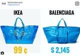 IKEA рассказала, как отличить их сумку-мешок от «подделки» за $2 тысячи